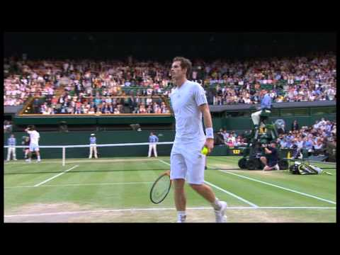 Jerzy Janowicz - Andy Murray Wimbledon 2013 semi final FULL part 4/5