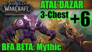 BFA Beta: Mythic +6 3-Chest Atal'Dazar (Guardian Druid PoV)