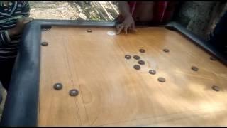 Carrom playing in centure sanjib purkait