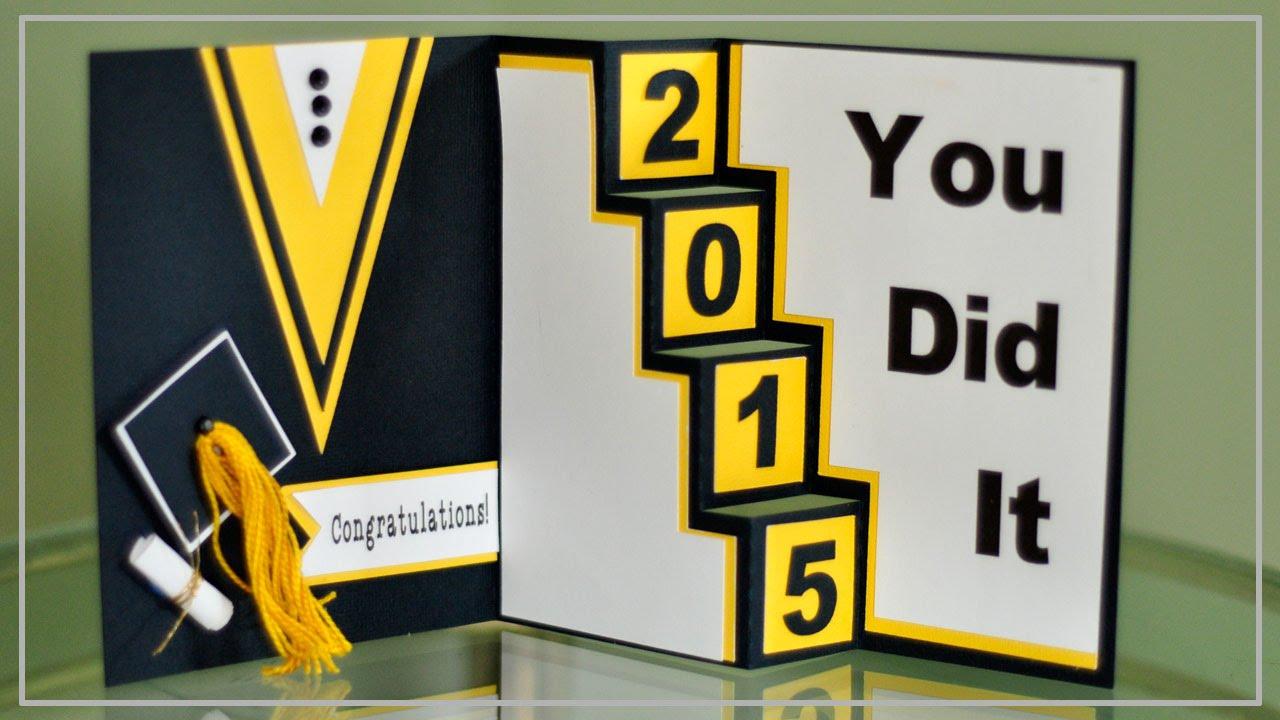 Graduation Cards Design Graduation Card With Cricut