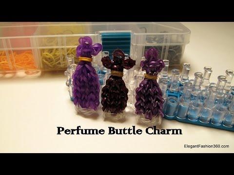 How to make Perfume Bottle Charm - Rainbow Loom - Make Up Series