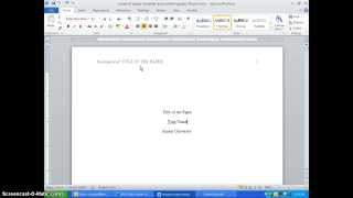 Applying APA Style and Other Tips for Writing a Research Paper