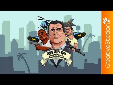 Grand Theft Auto V - Speed art ( #Illustrator CS6 )   CreativeStation