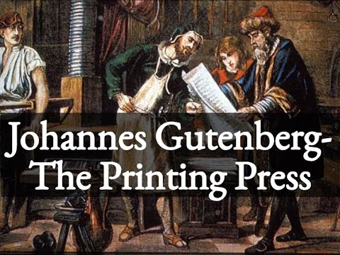 johannes gutenberg printing press essay Communications and media research paper: johannes gutenberg-inventor of the printing press.