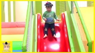 Indoor Playground Learn Colors Kids Family Fun for Play Slide Rainbow Colors Ball   MariAndKids Toys