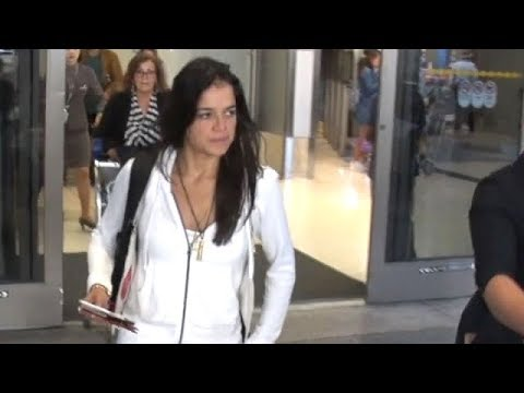 EXCLUSIVE - Fast And Furious Star Michelle Rodriguez In White For Air Travel