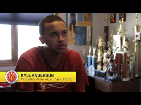 Tune into the McDonald's All American Games on March 28. � Girls game 6 pm CT on ESPNU � Boys game 8:30 pm CT on ESPN � See Kyle Anderson and the rest of t...