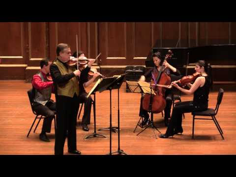 Schubert Rondo in A for Violin and String Quartet. James Buswell and Carpe Diem String Quartet.