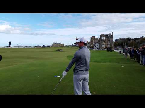 Rory McIlroy 18th Tee shot St Andrews atgolf.uk