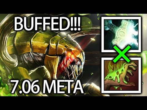 Venomancer BEST hero of 7.06 META Gameplay by Babyknight Dota 2