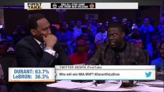 Kevin Hart Dishes On Who Will Win NBA MVP - First Take