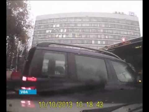 В Уфе «Нефаз» столкнулся сразу с тремя автомобилями