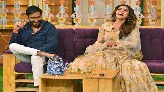 Ajay Devgan And Kajol On The Sets Of The Kapil Sharma Show TellyTopUp