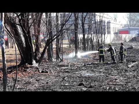 Boston MA - Back Bay Fens - 2 Alarm Brush Fire - 3/11/12