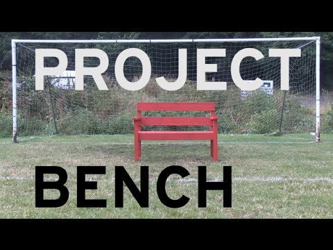 Freestyle footballer Sean Barnes showcases his own style of creativity on a Wickes bench