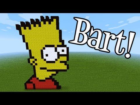 Tutoriais Minecraft: Como Fazer a Pixel Art do Bart