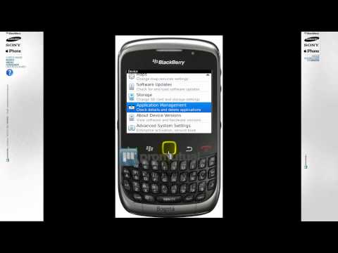 BlackBerry 8520. 8100 esta lento: como borrar aplicaciones o imágenes de BlackBerry