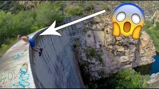 Hanging from 300 Foot Cliff - In 4k!