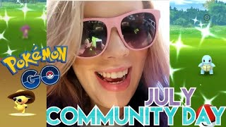 MY LUCKIEST DAY EVER IN POKEMON GO! July Community Day Vlog!