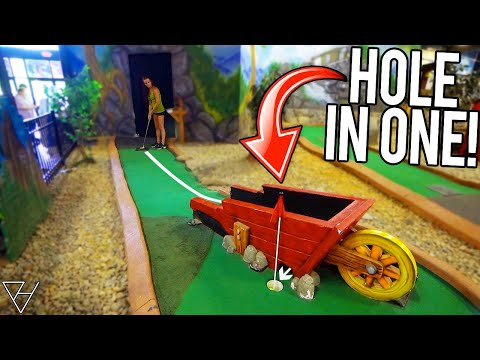 Lucky Mini Golf Hole In One and Terrible Luck All In One Game!