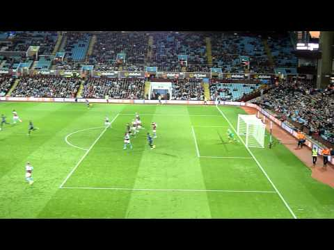 Aston Villa v Manchester CIty - 4th Oct = Mangala Header