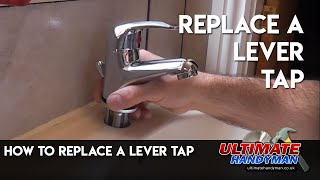 How to replace a single hole lever tap
