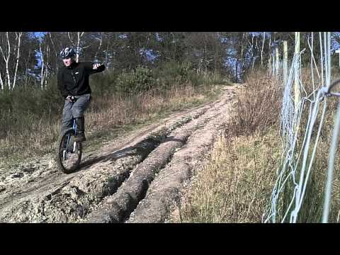 Mountain unicycling in the netherlands close by the german border.In the area Tegelen/belfeld. - Rev