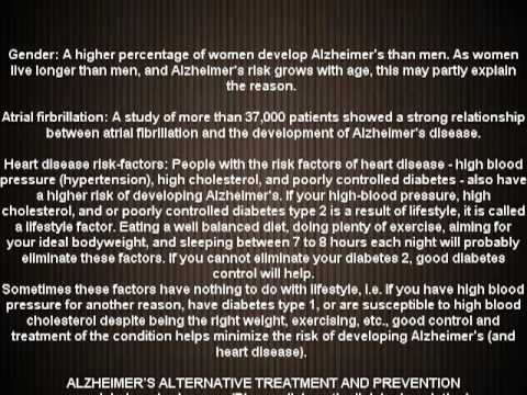 Alzheimer's disease causes symptoms treatment (NEW)