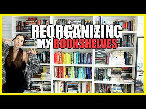 Reorganizing my Bookshelves 2019 || Books with Emily Fox