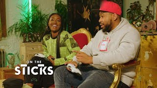 Justine Skye and DJ Akademiks Go Head-to-Head in Halo 5: Guardians | On the Sticks
