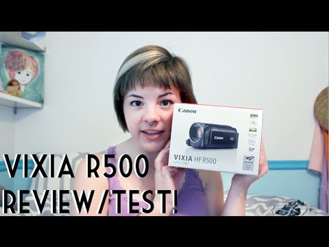 Canon Vixia HF R500 Unboxing/Review/Test!