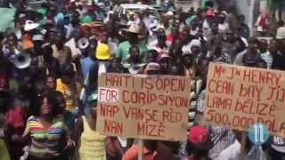 VIDEO: Haiti Manifestation 17 Oktob 2014 - Lavalas ak Opposition an pran Lari a jounen Lanmò Dessalines