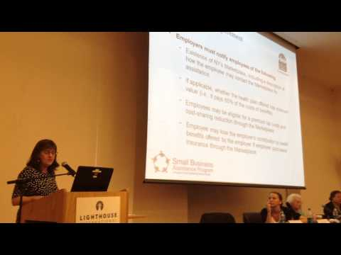 New York State Health Care Marketplace Forum - What Small Business Needs To Know Part 3