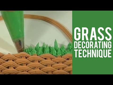 Cake Decorating Making Grass : Grass Decorating Technique from Wilton - YouTube