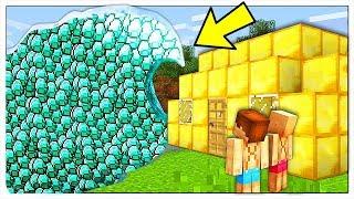 ONDA GIGANTE DI DIAMANTI CONTRO BASE DI ORO! - Minecraft ITA