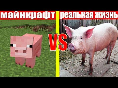 МАЙНКРАФТ ПРОТИВ РЕАЛЬНОЙ ЖИЗНИ 5 ! MINECRAFT VS REAL LIFE