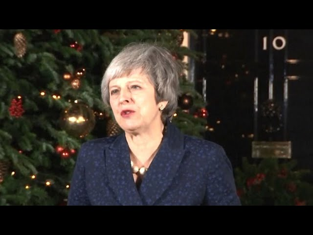 British Prime Minister Theresa May speaks after surviving vote of no confidence