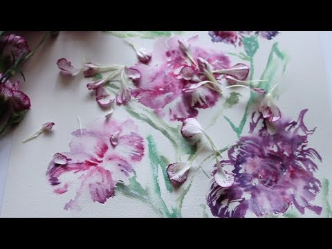 Carnation Flower Painting Step by Step Tutorial | Wet to Wet Technique