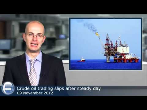 Crude oil trading slips after steady day