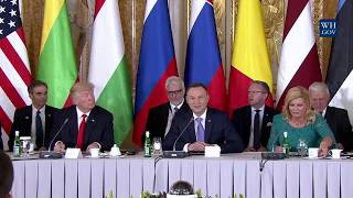 President Trump Gives Remarks at Three Seas Initiative Summit
