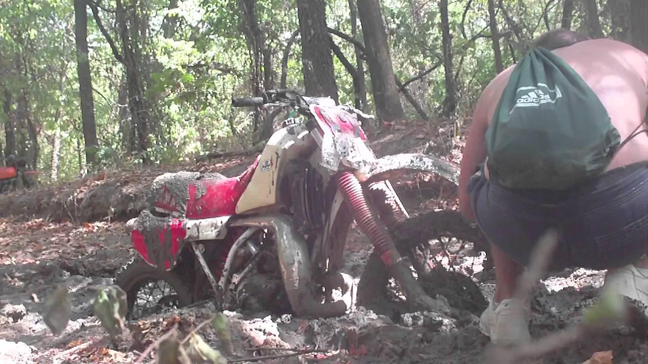 Dirt Bike Stuck In The Mud At Copper Creek Youtube