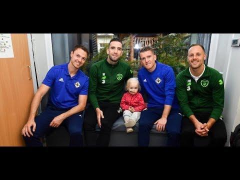 Ireland & Northern Ireland Players Visit Crumlin Children's Hospital