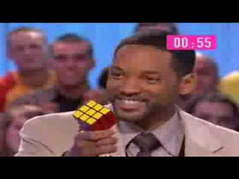 Will Smith resuelve Rubik's cubo en  1 minuto