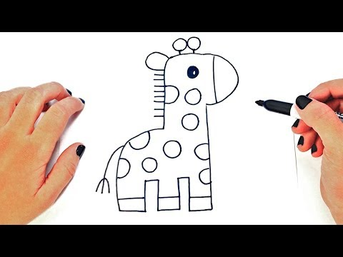 How to draw a Giraffe Step by Step | Easy drawings
