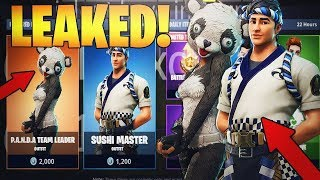 Fortnite Mobile-Come Play With Me *NEW* Leaked Skins - Panda Team Leader and Sushi Master