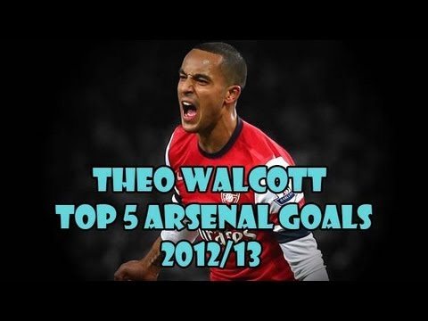Theo Walcott Top 5 Arsenal Goals 2012/13