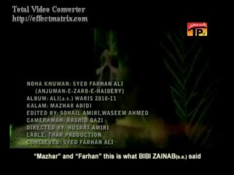 Farhan Ali Waris 2012 Noha Jab Kafala Chala Tha.mp4 video