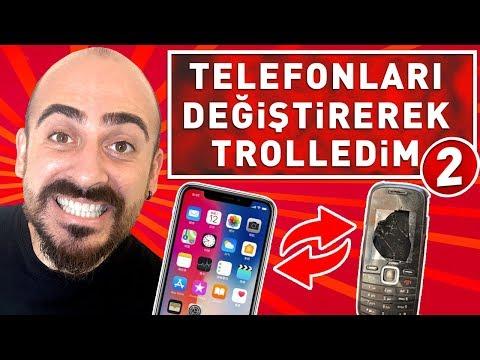 TELEFONLARI KIRIK TELEFONLA DEĞİŞTİREREK TROLLEDİM 2 !