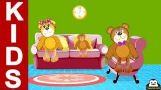 Nursery Rhymes | The Bear Family | Kids Songs In English Lyrics