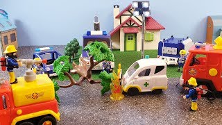 Fireman Sam Playmobil THW Toys Crash Fire Helens Ambulance Car Jupiter Firefighter Sam Toy 2019